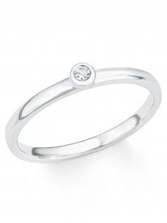s.Oliver 2017203 Damen Ring Sterling-Silber 925 Silber Weiß 50 (15.9)