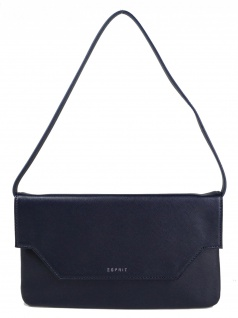 Esprit Damen Clutch Tasche Handtasche Darlene Baguette Blau