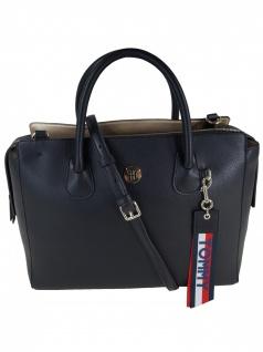 Tommy Hilfiger Damen Handtasche Tasche Charming Tommy Satchel Schwarz