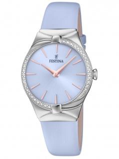 FESTINA F20388/2 Uhr Damenuhr Lederarmband Lila