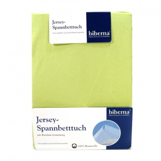 Biberna 77155-426 Jersey Spannbetttuch Pistaziengrün 90x190 100x200
