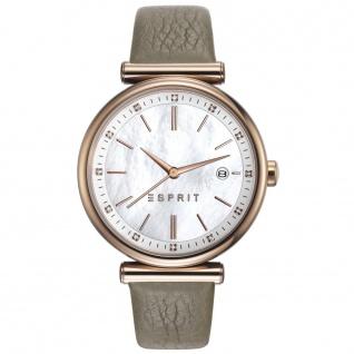 Esprit ES108542001 esprit-tp10854 taupe Uhr Damenuhr Leder Datum taupe
