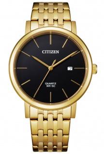 Citizen BI5072-51E Uhr Herrenuhr Edelstahl Datum gold