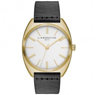 LIEBESKIND LT-0021-LQ Uhr Damenuhr Lederarmband schwarz