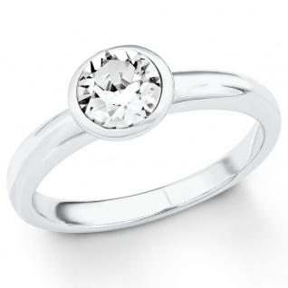 s.Oliver 2018661 Damen Ring Sterling-Silber 925 Silber Weiß 58 (18.5)