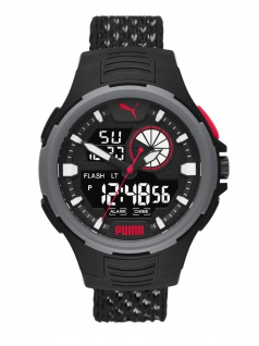 Puma P5073 BOLD ANALOG-DIGITAL Uhr Herrenuhr Datum Alarm schwarz