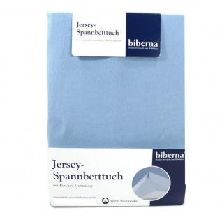 Biberna 77155-220-087 Jersey Spannbetttuch Himmelblau 180x200 200x200
