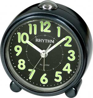 RHYTHM CRE856NR02 Wecker Uhr Alarm Schwarz