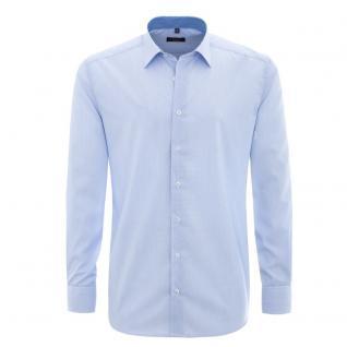 Eterna Herrenhemd Langarm XXXL/49 Comfort Fit Blau streifen 8476/12