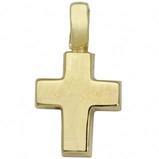 Basic Gold TG14 Kinder Anhänger Kreuz 14 Karat (585) Gelbgold
