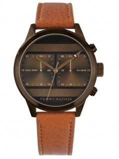 Tommy Hilfiger 1791594 ICON Uhr Herrenuhr Lederarmband Braun