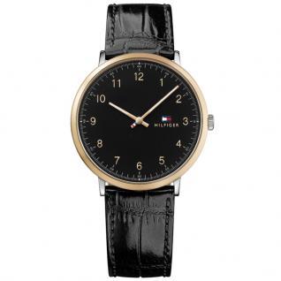 Tommy Hilfiger 1791339 James Uhr Herrenuhr Lederarmband Schwarz
