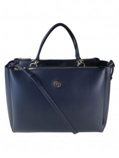 Tommy Hilfiger Damen Handtasche Tasche Effortless Tommy SAT Blau