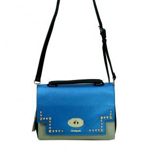 Desigual Bols Roma Tricolor Blau Grün 17WAXPFR-5011 Handtasche Tasche - Vorschau 1
