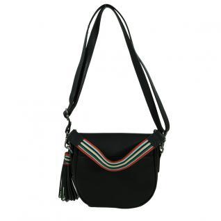 Esprit Wendy Saddlebag Schwarz Leder Handtasche Schulter Tasche - Vorschau 4