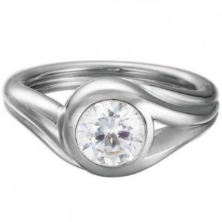 Esprit ESRG92036A Damen Ring glamour solitaire Silber Weiß 50 (15.9)