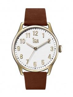 Ice-Watch 013050 Ice time Caramel White Large Uhr Lederarmband Braun
