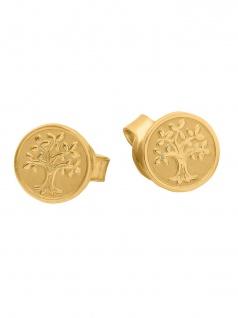 Basic Gold 24633 Damen Ohrstecker Lebensbaum 14 Karat (585) Gelbgold