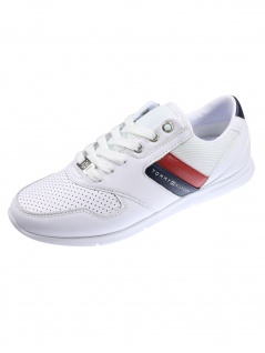 Tommy Hilfiger Damen Schuhe Lightweight Leather Sneaker Weiß