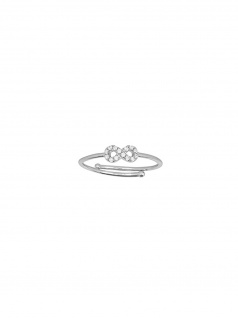 XENOX XS1630 Damen Ring Infinity Glamour Girl Silber Weiß