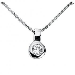 Basic Silber 21.2327 Damen Collier Silber Zirkonia weiß 42 cm