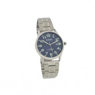 Cosmo 301116-MB-ZI-blau Uhr Herrenuhr Edelstahl Datum silber