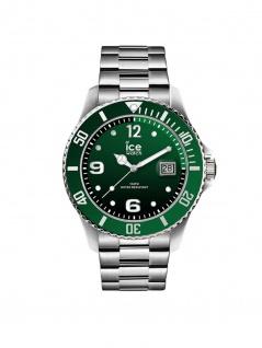 Ice-Watch 016544 ICE Steel Green Silver M Uhr Herrenuhr Datum Silber