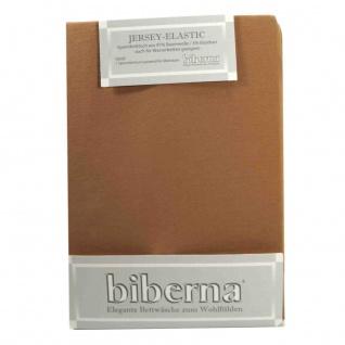 Biberna Jersey Elastic Spannbetttuch Cappuccino Braun 140x200 160x220