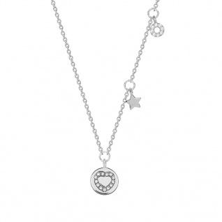 XENOX XS1608 Damen Collier Herz Glamour Girl Silber Weiß 45 cm