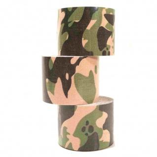 3 Rollen Kinesiologie Tape 5 m x 5, 0 cm tarnfarbe (EUR 0, 833 / m)