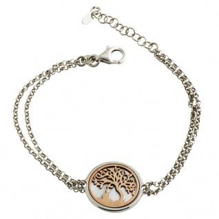 GOOIX 914-06280 Damen Armband Baum Buddha Bicolor Rose Weiß 20, 5 cm