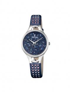 FESTINA F20407/2 Uhr Damenuhr Lederarmband Blau
