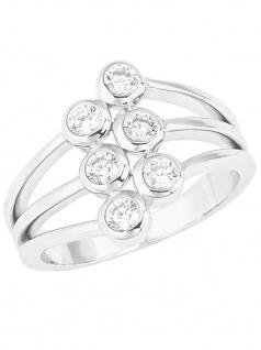 s.Oliver 2024237 Damen Ring Sterling-Silber 925 Silber Weiß 56 (17.8)
