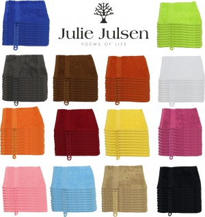 10 er Set Julie Julsen® Waschhandschuhe 15 cm x 21 cm