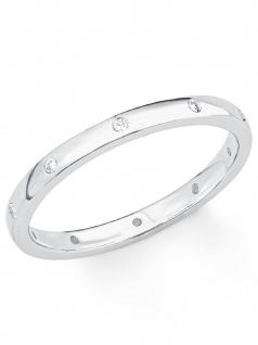 s.Oliver 2017199 Damen Ring Sterling-Silber 925 Silber Weiß 50 (15.9) - Vorschau