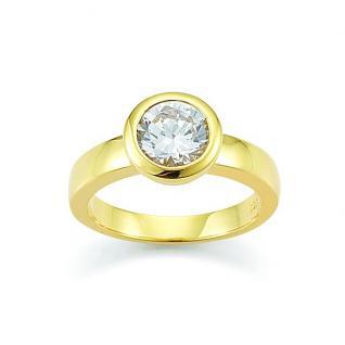 GOOIX 944-0001 Damen Ring vergoldet Zirkonia 58 (18.5)