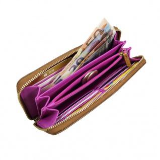 Fossil Geldbörse Emma RFID Large Zip Pink Braun Multi Damen Börse - Vorschau 3