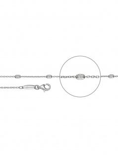 Der Kettenmacher A4-70S Anker Ovaline Kette Silber 70 cm