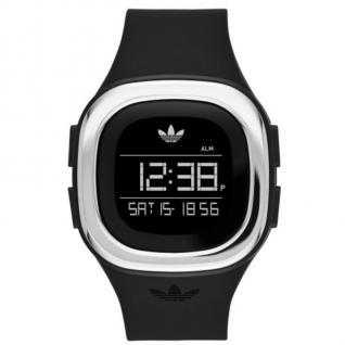 Adidas ADH3033 DENVER Uhr Damenuhr Kautschuk Datum Alarm schwarz