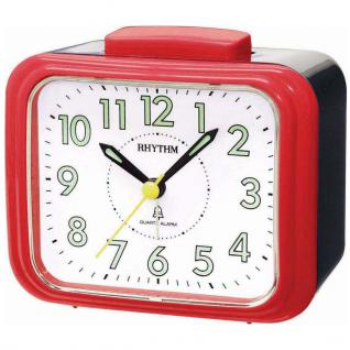 RHYTHM CRA828NR70 Wecker Glockenwecker Alarm rot schwarz