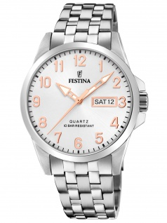 Festina F20357/A Uhr Herrenuhr Edelstahl Datum silber