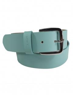 Esprit Damen Gürtel Jeansgürtel New basic belt Leder 80cm Türkis