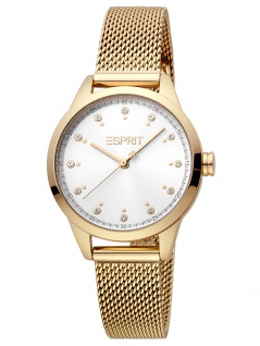Esprit ES1L259M1085 Pointy Silver Gold Mesh Uhr Damenuhr gold