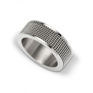 gooix 443-05412-66 Herren Ring Edelstahl Silber 66 (21.0)
