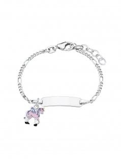 Prinzessin Lillifee Armband Gravurarmband Einhorn Silber Rosa 14 cm