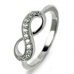 gooix 943-05861-54 Damen Ring Infinity Silber Weiß 54 (17.2)