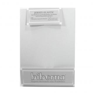 Biberna 77866-001 Jersey Elastic Spannbetttuch Weiß 140x200 - 160x220