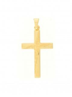 Gerry Eder 27.9200 Anhänger Kreuz 14 Karat (585) Gelbgold Gold