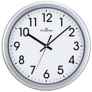 DUGENA 4460647 Wanduhr Uhr lautlos Kunststoff Analog silber - Vorschau 1