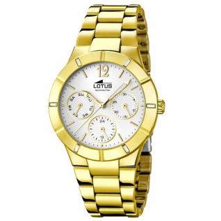 LOTUS 15914-1 AVIGNON Uhr Damenuhr Edelstahl Datum gold Zirkonia